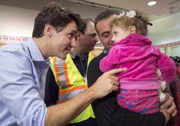Justin Trudeau Welcoming Syrian Refugees